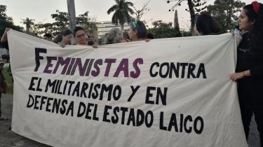 feministas salvadoreñas contra militarizacion estado